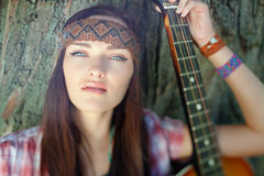 Beautiful hippie girl Royalty Free Stock Photo