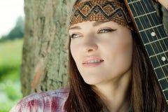 Beautiful hippie girl Stock Photography