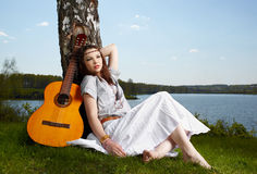 Beautiful hippie girl Stock Photo