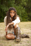 Beautiful hippie girl in the park Stock Photography