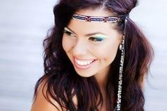 Beautiful hippie woman smiling natural Stock Photo