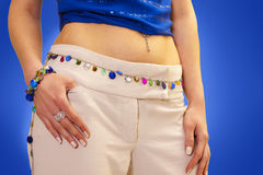 Beautiful hips and abdomen Royalty Free Stock Images