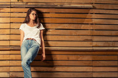 Beautiful hipster female model Stock Image