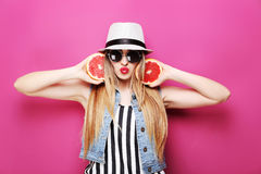 Beautiful hipster girl Stock Photography