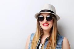 Beautiful hipster girl Royalty Free Stock Photos