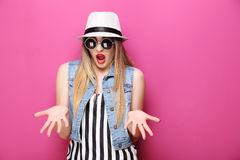 Beautiful hipster girl Royalty Free Stock Photography