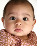 Beautiful Hispanic Baby. Close up of a beautiful three month old hispanic baby girl Stock Images