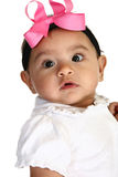 Beautiful Hispanic Baby Girl. Close up of beautiful Hispanic 3 month old baby girl Royalty Free Stock Images