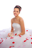 Beautiful Hispanic Bride Portrait Stock Photography