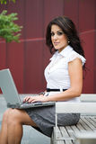 Beautiful hispanic businesswoman Stock Image