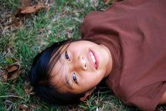 Beautiful Hispanic girl outside Royalty Free Stock Image