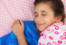 Beautiful hispanic girl sleeping Royalty Free Stock Images