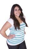 Beautiful Hispanic Girl Standing Up Royalty Free Stock Image