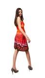 Beautiful hispanic lady on white Stock Images