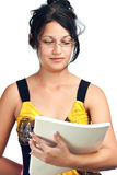 Beautiful hispanic student wearing glasses Stock Images