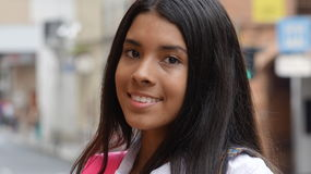 Beautiful Hispanic Teen Female Student Stock Photography