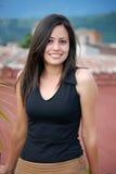 Beautiful Hispanic woman. A Young Smiling Hispanic Woman Royalty Free Stock Photography
