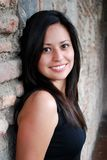 Beautiful Hispanic Woman. A close up of a Young, Beautiful Hispanic Woman Stock Photo