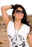 Beautiful hispanic woman. Royalty Free Stock Photo