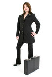 Beautiful Hispanic Woman With Briefcase Royalty Free Stock Photos