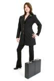 Beautiful Hispanic Woman With Briefcase Royalty Free Stock Photos