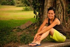 Free Beautiful Hispanic Woman Outside Royalty Free Stock Images - 9102949