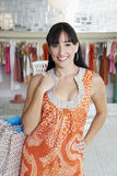 Beautiful Hispanic Woman Shopping Royalty Free Stock Image
