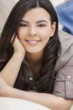 Beautiful Hispanic Woman Smiling Royalty Free Stock Photography