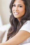 Beautiful Hispanic Woman Smiling Royalty Free Stock Images