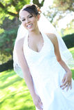 Beautiful Hispanic Woman at Wedding stock photography
