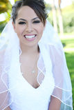 Beautiful Hispanic Woman at Wedding stock image