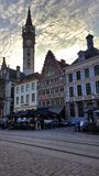 Beautiful historic architecture in Gent. Old town Gent Royalty Free Stock Images
