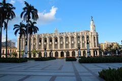 A beautiful historic building in The City Center in Havana. Beautiful historic building in The City Center in Havana Royalty Free Stock Photo