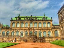 Beautiful historic building in the Zwinger Palace in Dresden Stock Photography