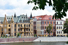 Beautiful historic buildings in Wroclaw Royalty Free Stock Photos