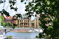 Beautiful historic buildings in Wroclaw Stock Image
