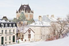 Beautiful Historic Chateau Frontenac in Quebec City stock image