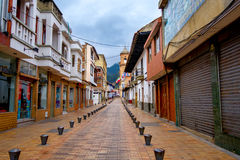 Beautiful historic city center at Zipaquira Stock Images