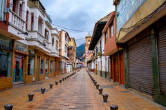 Beautiful historic city center at Zipaquira Stock Images