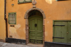 Beautiful and historic door in Italy Stock Photo