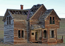 Beautiful Historic Fairfield House. This historic house was out in some plowed farmlands. along a back road in the outback of northern Oregon it was a great day Stock Photography