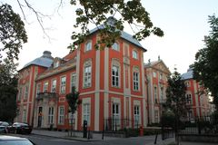 Historic mansion in the center of Warsaw Poland stock photos