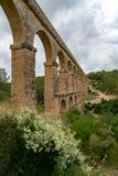 Roman Aqueduct Pont del Diable in Tarragona, Spain Stock Images