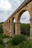 Roman Aqueduct Pont del Diable in Tarragona, Spain Royalty Free Stock Photos