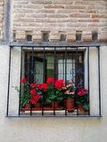 Beautiful patio of the Alcala de Henares University, Madrid, Spain. royalty free stock photos