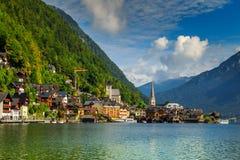 Beautiful historic village with alpine lake,Hallstatt,Salzkammergut region,Austria Royalty Free Stock Photo