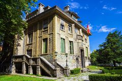 Beautiful historical building in the historic Cetinje, Montenegro (until 1916 was the French Embassy).  stock images