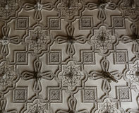 Beautiful Historical Ceiling. Patterned historical ceiling - noble home improvement ideas stock photography