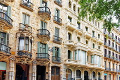 Beautiful historical landscape of the urban view Barcelona, Royalty Free Stock Photography