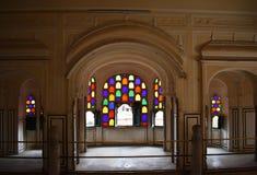 Historical monument hawa mahal in jaipur rajasthan india royalty free stock photography